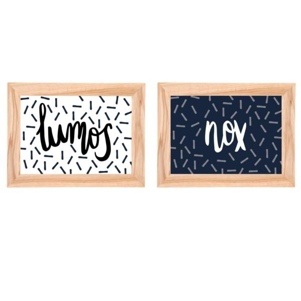 Lumos and Nox Prints In Frames