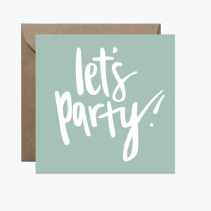 Let's Party Square Greeting Card