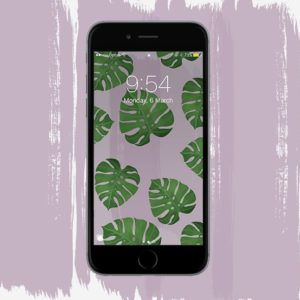 Monstera Phone Background Download by Rosie Lou