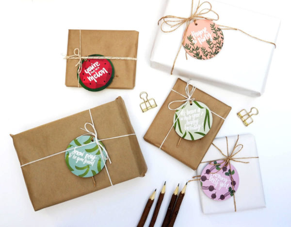 Seeded Round Gift Tag Pack