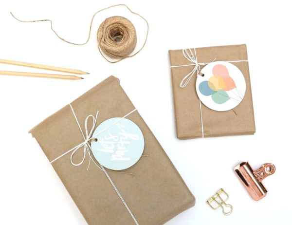 Let's Party Gift Tag