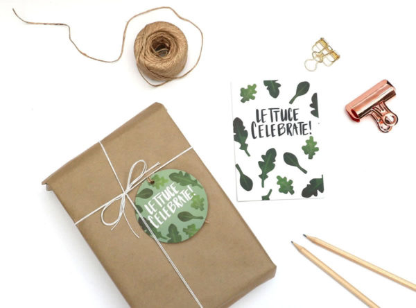 Lettuce Celebrate Gift Tag and Card