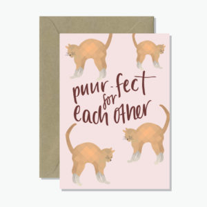 Puurfect Greeting Card